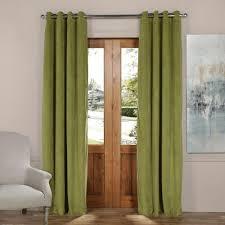 blackout signature perenial green grommet blackout velvet curtain 50 in