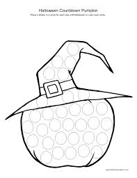 Halloween Pumpkin Coloring Page Halloween Countdown 2013 Calendar Halloween Pictures To Color
