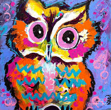 ziggy the great horned owl painting by kim heil