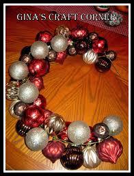 gina u0027s craft corner how to make a christmas ball wreath with a