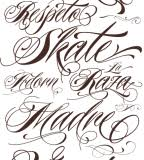 itallic tattoo script fonts for leg women tattoomagz