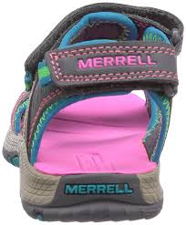 merrell panther boy u0027s velcro athletic sandals multicolor grey