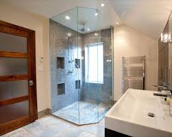 Glass Shower Houzz - Bathroom glass designs