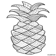 coloring pages henna art pineapple whimsical line art coloring book for adult antistress