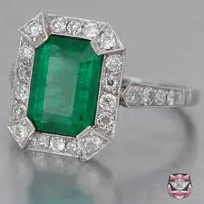 vintage emerald engagement rings antique emerald rings deco emerald engagement ring