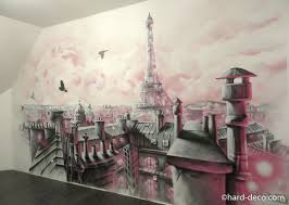 fresque murale chambre fresque murale pour chambre de fille avec toits de