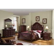 amazon com 4pc solid pine queen size bed complete dark cherry wood queen size panel bed bedroom set 1 269 99 amazon