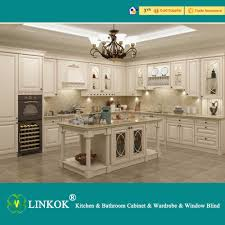 Cheap Solid Wood Kitchen Cabinets Linkok Furniture Wholesale Cheap China Blinds Factory Directly