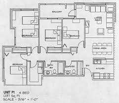 four bedroom floor plans four bedroom floor plans home planning ideas 2017