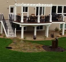 Best Backyard Decks And Patios Best 25 Deck With Pergola Ideas On Pinterest Wooden Pergola