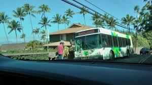 Hawaii travel bus images Maui bus no 30 at napili village bus stop on lower honoapiilani jpg