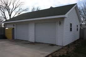 oversized 2 car garage with loft storage space