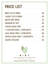 mint hair ware price list apt pinterest mint hair price