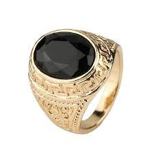 gold ring for men best mens rings black precious stones real 18k gold ring for men