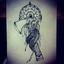 wolf indian tattoos designs tomahawk dreamcatcher tattoo design tattoo pinterest