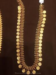 gold long necklace images 50 grams gold long kasu haram pinterest 50th gold and gold jpg