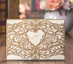 wedding cards usa gold wedding invitations laser cut heart hollow invitations card