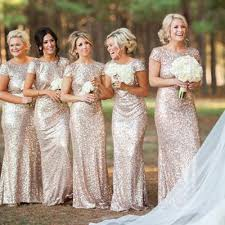 best bridesmaid dresses best sale cap sleeve gold sequin bridesmaid dress mermaid