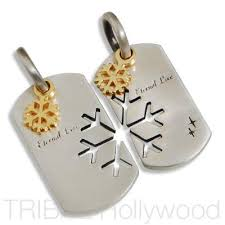 his and hers dog tags couples necklaces and matching his hers necklaces tribal