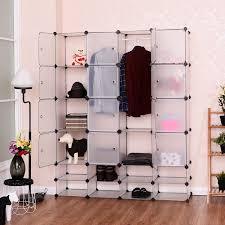 Closet Storage Cabinets Costway Diy 16 8 Cube Portable Clothes Wardrobe Cabinet Closet