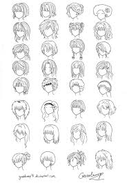 names of anime inspired hair styles 32 anime and manga hair styles by goosebump91 on deviantart