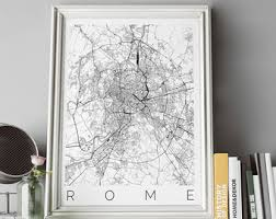 Map Home Decor Rome Decor Etsy