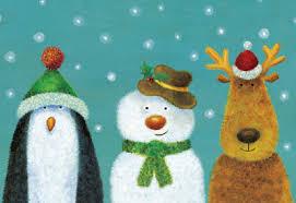penguin snowman reindeer charity christmas cards x10 blood