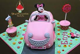 sheny u0027s homemade treats minnie mouse 3d car cake