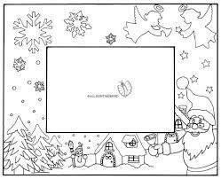 cornice disegno di cornice di natale orizzontale da colorare per bambini