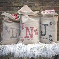 personalised sack by catherine colebrook