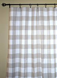 Country Plaid Curtains Curtains Gingham Country Curtains Buffalo Check Curtains Black