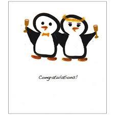 penguin wedding card penguin gift shop