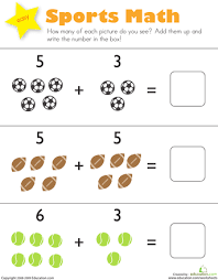 kindergarten addition worksheets with pictures worksheets