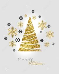 gold christmas tree vector illustration gold christmas tree background royalty
