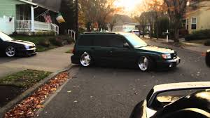 slammed subaru forester robbie ericksons stanced forester filthiest fitment youtube