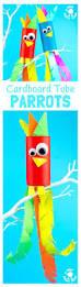 tropical cardboard tube parrot craft kids craft room