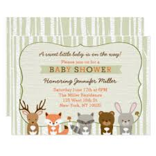 woodland baby shower invitations woodland animals baby shower invitations announcements zazzle