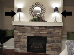 decorating a stone fireplace mantel interior design