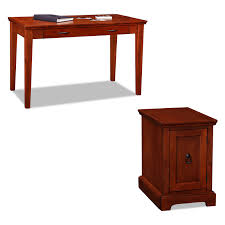 leick home chocolate oak corner computer writing desk walmart com