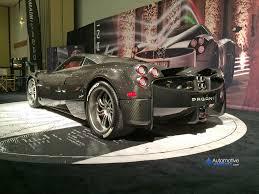 pagani huayra carbon fiber carbon fiber clad pagani huayra makes appearance at miami auto show
