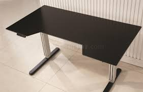 Motorized Adjustable Height Desk by Office Desk In Black U0026 Silver Tone W Adjustable Height