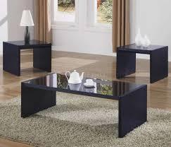 black glass top end tables black modern 3pc coffee table set w black glass tops