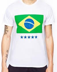 Brazil Flag Image Lyst Born Idol Brazil Flag T Shirt In White For Men