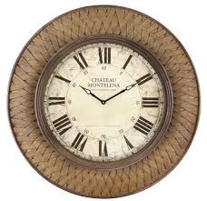 cool clock faces garrett clock glass covered face with woven pattern frame 31 5