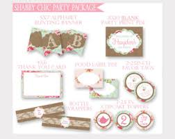 Shabby Chic Banner by Tea For Two Banner Etsy