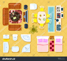 Office Chair Top View Clipart Top View Apartment Interior Set Isolated Stock Vector 572121241