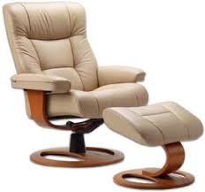 Fjord Chairs Fjords Manjana Ergonomic Leather Recliner Chair Ottoman