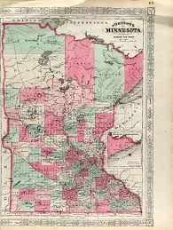 Rit Campus Map Antique Map Minnesota State Map 1865 Scrimshaw Gallery