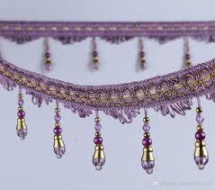 Lace Trim Curtains 12meter Bead Tassel Pendant Hanging Lace Trim Ribbon