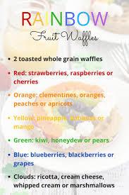 rainbow fruit waffles easy st patrick u0027s day breakfast